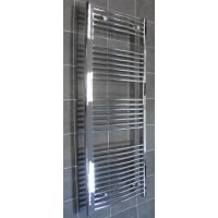 Heated Towel Rail 1600mm High x 500mm Wide Maxtherm Chrome Curved