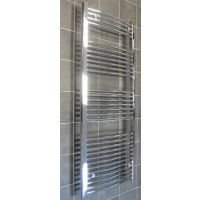 Heated Towel Rail 1600mm High x 600mm Wide Maxtherm Chrome Curved