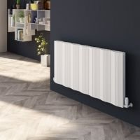 Reina Wave Aluminium Double Panel  Designer Heated Radiator 600mm H x 1452mm W Anthracite Electric Only - Standard
