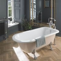 BC Designs MISTLEY Single Ended Bath With Feet Set 2 & Overflow 1700mm x 750mm